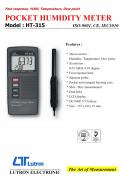 POCKET HUMIDITY METER - HT-315  溫溼度計+露點計