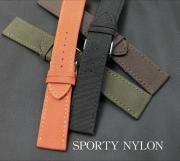 Top Leather with stitch Nylon Strap